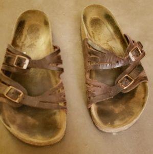 Birkenstock Granada birko-flor nubuck mocha sandal